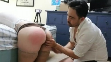She Submits Entirely for 1st Time: Bound, Spanked, Belted, & Pleasured