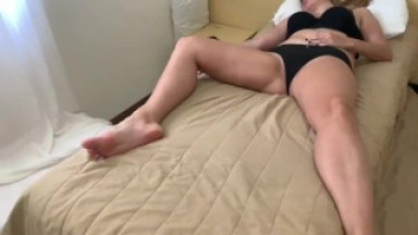 Son fuck with sexy stepmom at hotel