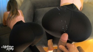 Fit Stepsister Knows How To Tease! Cumshot On On Her Yoga Pants MYSTERIOUSKATHY POV 4K