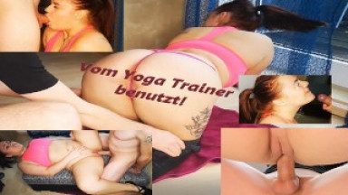 young german camgirl is used hard by her trainer !!!