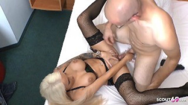 White Monster Cock Fuck German Latex Teen in Hotel at Date