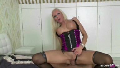 POV Cowgirl Thong to Side to let him Cum in my Face
