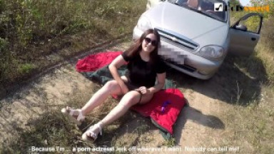 PUBLIC MASTURBATION - I WAS CAUGHT BY A CAR IN THE BEGINNING OF THE VIDEO)