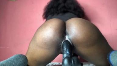 Horny black ass mastubating