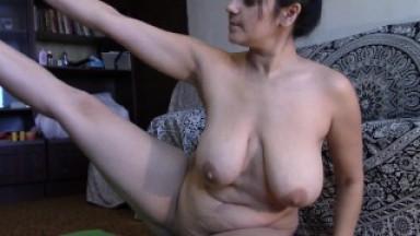 naked yoga routine