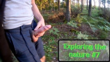 Exploring the nature #7 - Walking with my cock out. Massive cumshot in POV!