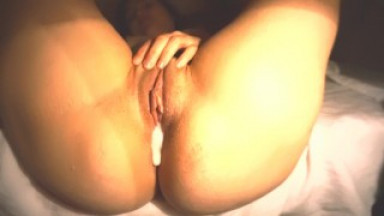 Hard sex and creampie in the middle of the night