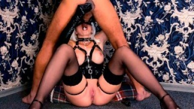 Mistress make gives Blowjob while Prostate Massage and gets cum in mouth