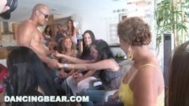 DANCING BEAR - Insane Bachelorette Party Ends Up With CFNM Orgy