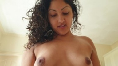 Teen stepsister wakes me with blowjob and reverse cowgirl creampie POV