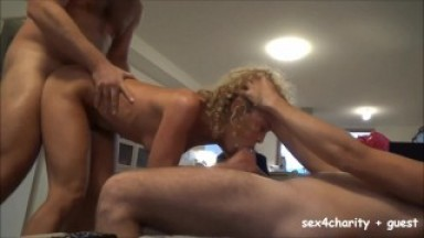 Amateur Threesome Cumpilation