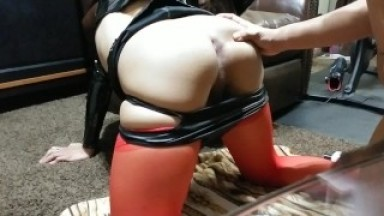 Trap femboy fucked hard and rough in latex - Ash Steele