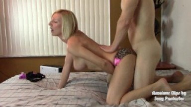 Ass Grinding to Riding to Doggystyle in Satin Panties for Cumshot on Ass