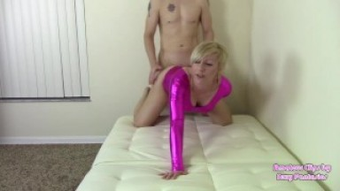 Twerking Ass Grind and Doggystyle in Two Leotards Taking Cum on Ass