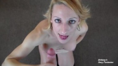 POV Blowjob Game - Give Me a Facial Before He Does